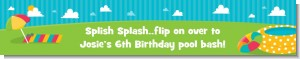 Pool Party - Personalized Birthday Party Banners
