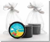 Pool Party - Birthday Party Black Candle Tin Favors
