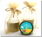 Pool Party - Birthday Party Gold Tin Candle Favors