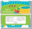 Pool Party - Personalized Birthday Party Candy Bar Wrappers thumbnail