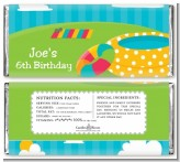 Pool Party - Personalized Birthday Party Candy Bar Wrappers