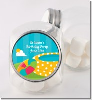 Pool Party - Personalized Birthday Party Candy Jar