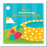 Pool Party - Personalized Birthday Party Card Stock Favor Tags