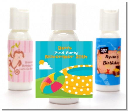 Pool Party - Personalized Birthday Party Lotion Favors