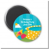 Pool Party - Personalized Birthday Party Magnet Favors