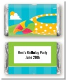 Pool Party - Personalized Birthday Party Mini Candy Bar Wrappers