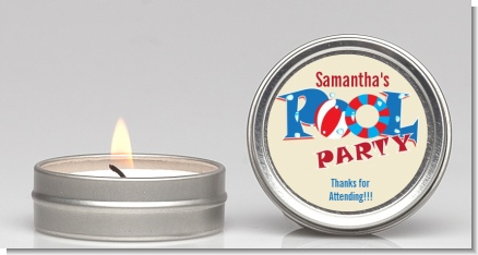 Poolside Pool Party - Birthday Party Candle Favors