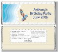 Poolside Pool Party - Personalized Birthday Party Candy Bar Wrappers thumbnail