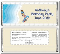Poolside Pool Party - Personalized Birthday Party Candy Bar Wrappers