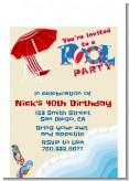 Poolside Pool Party - Birthday Party Petite Invitations