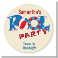 Poolside Pool Party - Round Personalized Birthday Party Sticker Labels thumbnail