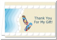 Poolside Pool Party - Birthday Party Thank You Cards