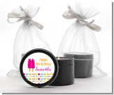 Popsicle Stick - Birthday Party Black Candle Tin Favors