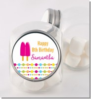Popsicle Stick - Personalized Birthday Party Candy Jar