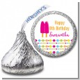Popsicle Stick - Hershey Kiss Birthday Party Sticker Labels thumbnail
