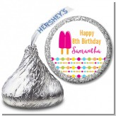 Popsicle Stick - Hershey Kiss Birthday Party Sticker Labels