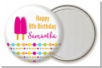 Popsicle Stick - Personalized Birthday Party Pocket Mirror Favors
