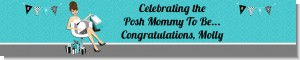 Posh Mom To Be Blue - Personalized Baby Shower Banners