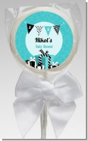 Posh Mom To Be Blue - Personalized Baby Shower Lollipop Favors