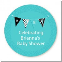Posh Mom To Be Blue - Personalized Baby Shower Table Confetti
