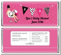Posh Mom To Be - Personalized Baby Shower Candy Bar Wrappers