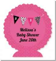 Posh Mom To Be - Personalized Baby Shower Centerpiece Stand