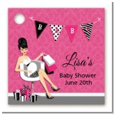 Posh Mom To Be - Personalized Baby Shower Card Stock Favor Tags