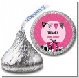 Posh Mom To Be - Hershey Kiss Baby Shower Sticker Labels thumbnail