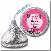 Posh Mom To Be - Hershey Kiss Baby Shower Sticker Labels