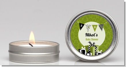 Posh Mom To Be Neutral - Baby Shower Candle Favors