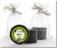 Posh Mom To Be Neutral - Baby Shower Black Candle Tin Favors
