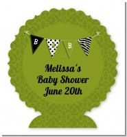 Posh Mom To Be Neutral - Personalized Baby Shower Centerpiece Stand