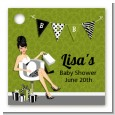 Posh Mom To Be Neutral - Personalized Baby Shower Card Stock Favor Tags thumbnail