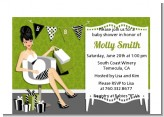 Posh Mom To Be Neutral - Baby Shower Petite Invitations