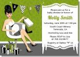 Posh Mom To Be Neutral - Baby Shower Invitations