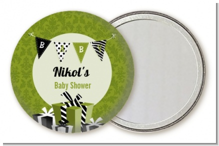 Posh Mom To Be Neutral - Personalized Baby Shower Pocket Mirror Favors