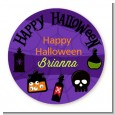 Potion Bottles - Round Personalized Halloween Sticker Labels thumbnail