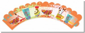 Pottery Painting - Birthday Party Cupcake Wrappers