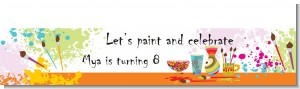 Pottery Painting - Personalized Birthday Party Banners