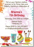 Pottery Painting - Birthday Party Invitations