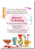Pottery Painting - Birthday Party Petite Invitations