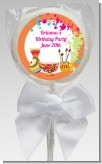 Pottery Painting - Personalized Birthday Party Lollipop Favors