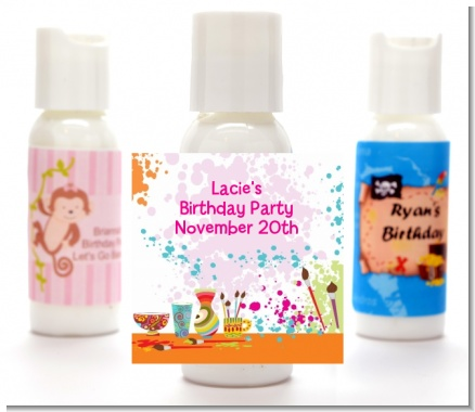 Pottery Painting - Personalized Birthday Party Lotion Favors