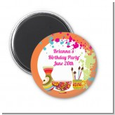 Pottery Painting - Personalized Birthday Party Magnet Favors