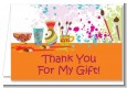 Pottery Painting - Birthday Party Thank You Cards thumbnail