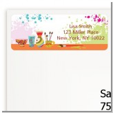 Pottery Painting - Birthday Party Return Address Labels