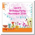 Pottery Painting - Personalized Birthday Party Card Stock Favor Tags thumbnail
