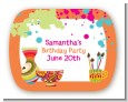 Pottery Painting - Personalized Birthday Party Rounded Corner Stickers thumbnail