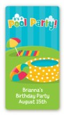Pool Party - Custom Rectangle Birthday Party Sticker/Labels