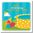 Pool Party - Square Personalized Birthday Party Sticker Labels thumbnail